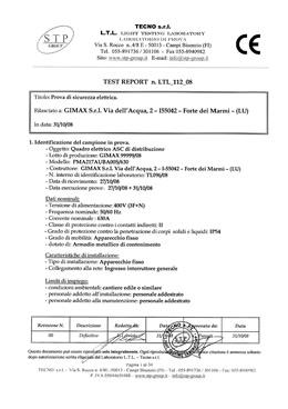Dichiarazione conformit quadro elettrico di cantiere - Certificato impianto elettrico a norma ...